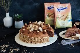 vegane vollkorn haselnuss torte mit nougatcreme