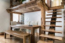 100 Mezzanine Design Wooden Table In Dining Room Under Mezzanine Photos By Canva