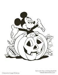 Elegant Disney Halloween Coloring Pages 99 For Online With