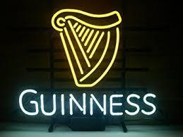 New Guinness Irish Lager Real Glass Neon Light Sign Home Beer Bar