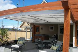 Pergola Design : Amazing Metal Pergola With Retractable Canopy ... Outdoor Folding Rain Shades For Patio Buy Awning Wind Sensors More For Retractable Shading Delightful Ideas Pergola Shade Roof Roof Awesome Glass The Eureka Durasol Pinnacle Structure Innovative Openings Canopy Or Whats The Difference Motorised Gear Or Pergolas And Awnings Private Residence Northern Skylight Company Home Decor Cozy With Living Diy U