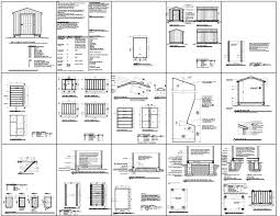 8 X 10 Gambrel Shed Plans by Storage Shed Plans 8 X 12 Shed Plans Shed Diy Plans