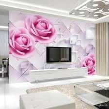 großhandel benutzerdefinierte blumentapete rosa 3d retro tapete für das wohnzimmer tv schlafzimmer wand hintergrund wand wasserdichte tapete
