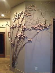 Tree Wall Decor With Pictures by Tree Art Twig Art For Wall Decor Wall Art With Mountain Laurel