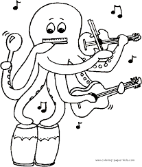 Elegant Music Coloring Pages