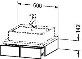 Duravit Vero Basin 600 by 15 Duravit Vero Basin 600 Duravit Vero 60 Cm