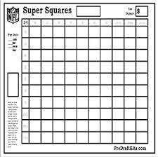 29 of Super Bowl 51 Betting Squares Template