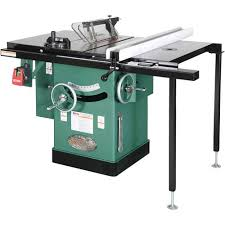 10 5 hp 240v cabinet left tilting table saw grizzly industrial