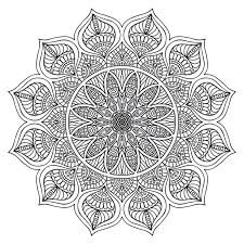 Mandala Zen Adult Colouring Page