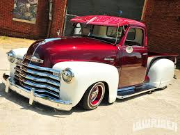 1949 Chevrolet 3100 Truck - Lowrider Magazine 1949 Chevy Pickup 22 Inch Rims Truckin Magazine Chevrolet Kustom Red Hills Rods And Choppers Inc St Truck Of The Year Early Archives Goodguys Hot News 3100 Classics For Sale On Autotrader Installing Modern Suspension In An Early 1950 5 Window Not 3500 For Leitchfield 1983 Silverado 10 Pickup Truck Item K5968 Sold Beer Beverage Used Indiana 1947 48 49 C40 Flatbed Project Classic Other Gmc 1 Ton Jim Carter Parts