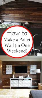 How To Make A Pallet Wall In One Weekend Cheap House DecorCheap
