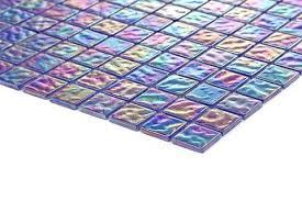 Iridescent Mosaic Tiles Uk by Pearl Iridescent Dark Purple Glass Mosaic Tiles Sheet Mt0042
