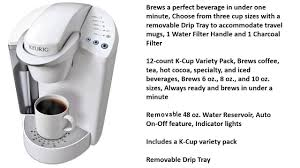 Keurig K45 Elite Brewing System Coconut White Review