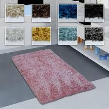 moderne badematte badezimmer teppich shaggy weich in versch größen u farben grösse 80x150 cm farbe schwarz