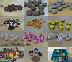 Set Polymer Clay Agricola Game Animeeple And Vegemeeple