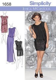 simplicity 1658 misses formal dress