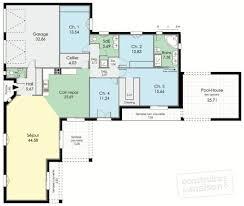 plan maison 150m2 4 chambres villa de plain pied dé du plan de villa de plain pied
