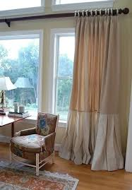 Smocked Burlap Curtain Panels by Pleated