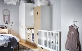This Nursery Idea Places A Cot Changing Table And Babies Storage In Between Two Wardrobes The All On One Wall Bedroom