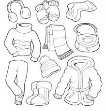 Winter Clothes Coloring Pages For Preschool Panda