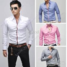 2018 New Fashion Men Dress Shirts Long Sleeve Casual Slim Fit Shirt Tops Four Colors M L Xl Xxl 5183 From Agood 835