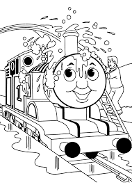 Thomas Washing Coloring Pages For Kids Printable Free