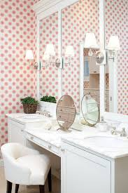 Small Bathroom Vanities With Makeup Area by Makeup Vanity Set Bathroom Traditional With Gray Wall Double