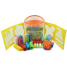 Play Day 52-Piece Chalk Activity Bucket - Walmart.com