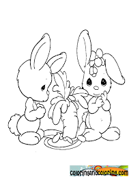 Coloring Rabbits Precious Moments
