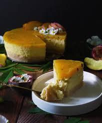 pfirsich käsekuchen mit maracuja vegan notanimeals