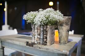 Birch Bark Wood Vases Wedding Table Decor Flower Pot Rustic Centerpiece Flowers Tabletop Decorations