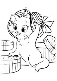 Christmas Coloring Pages Kitten