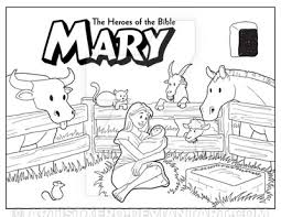 Raczso 70 10 Mary Coloring Page By ArtistXero