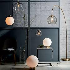 West Elm Overarching Floor Lamp Instructions by Overarching Acrylic Shade Floor Lamp Antique Brass Smoke West