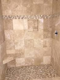 java and white pebble tile shower border pebble tile shop