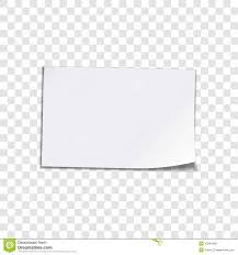Paper Sheet On Transparent Background Stock Vector