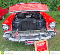 1957 Chevy Convertible Front View Editorial Stock Image - Image Of ...