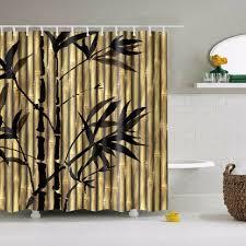 bambus dusche vorhang bambus badezimmer duschvorhang vintage bambus duschvorhang vintage stoff wasserdicht geschenk für paar