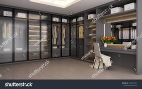 100 Modern Luxury Design Dressing Room Interior Walk Stock Illustration