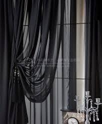 Searsca Sheer Curtains by Elegance Voile Black Sheer Curtain Dark Decor Pinterest
