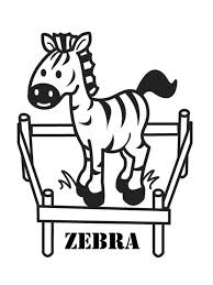 Cute Preschool Coloring Pages Zebra