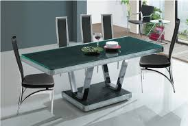 Glass Dining Table Side Wood Flooring Shiny White Ideas
