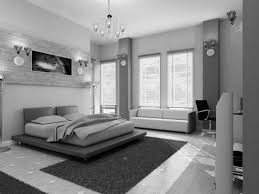Black Leather Headboard Bed by Black And White Room Ideas With Accent Color White Chandelier