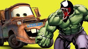 Superman Hulk Venom Vs Disney Cars Coloring Pages Book