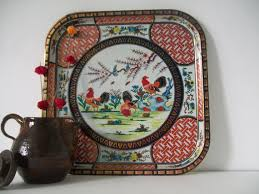 Daher Decorated Ware 11101 by 19 Daher Decorated Ware 11101 Vintage 1970s Metal Tray