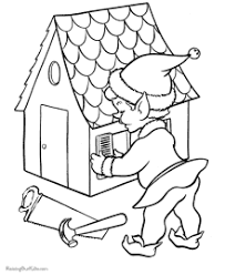 Christmas Elves Coloring Page Santa Pages