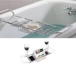 Bamboo Bathtub Caddy Bed Bath Beyond by Amazon Com Ipegtop 304 Stainless Steel Over Bath Tub Racks Shower