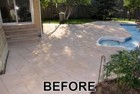 Paint Concrete Patio Before And After Home Design Ideas