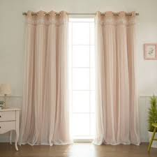 buy pink sheer panel from bed bath beyond