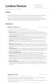 Hrbp Hr Executive Resume Samples